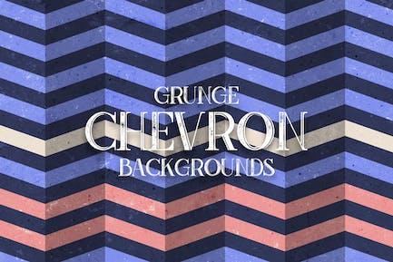 Grunge Chevron. Vintage ZickzackHintergründe