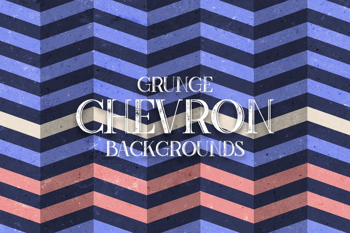 Thumbnail for Grunge Chevron. Vintage Zigzag Backgrounds