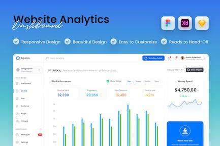 Website Analytics Dashboard UI Kit