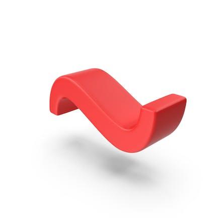 Símbolo de tilde roja