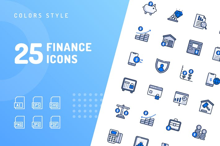 Cover Image For Finance Color Icons