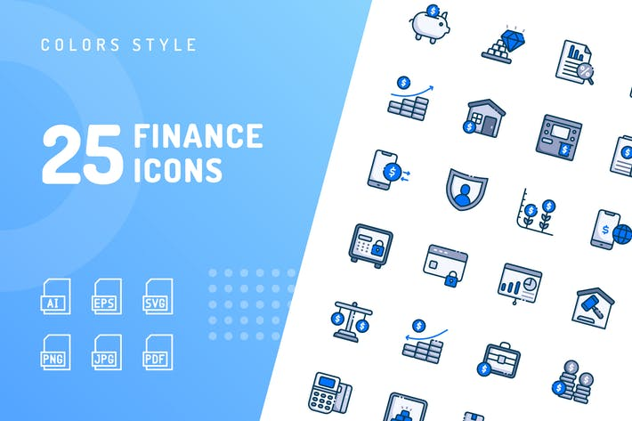 Finance Color Icons