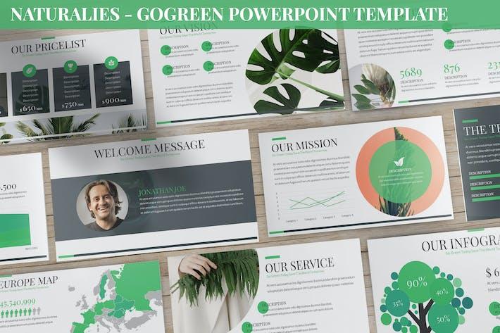 Thumbnail for Naturalies - GoGreen Powerpoint Template