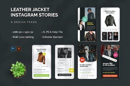 Leather Jacket - Instagram Story
