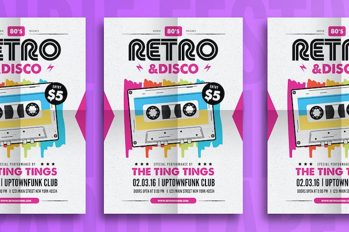 Thumbnail for Retro & Disco Flyer
