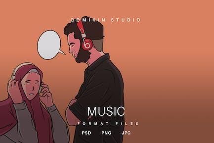 Musik-Illustration