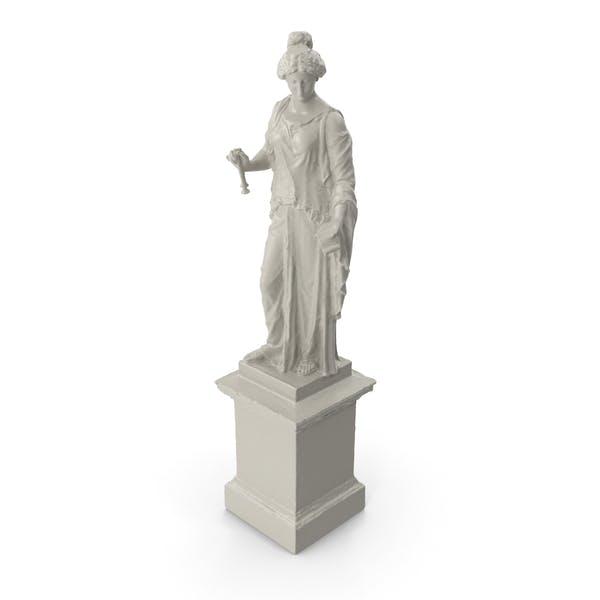Статуя женщины музыканта