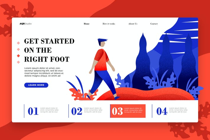 The Right Foot - Banner & Landing Page