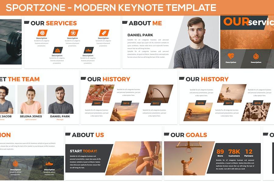 Sportzone - Modern Keynote Template