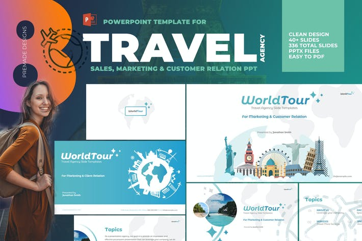 Thumbnail for Travel Agency Powerpoint Template