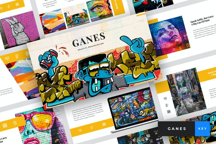 Thumbnail for Ganes - Graffiti Keynote Template