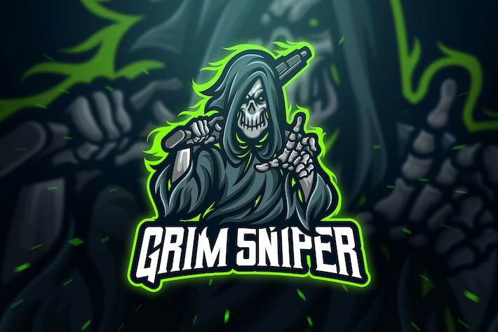 Thumbnail for Grim Sniper Sport and Esport Logo Template
