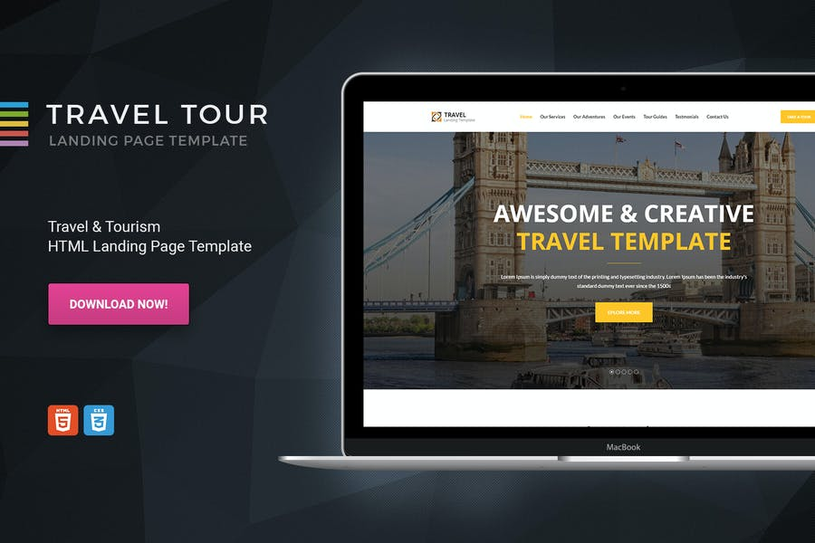 Travelly - HTML Travel & Tourism Landing page