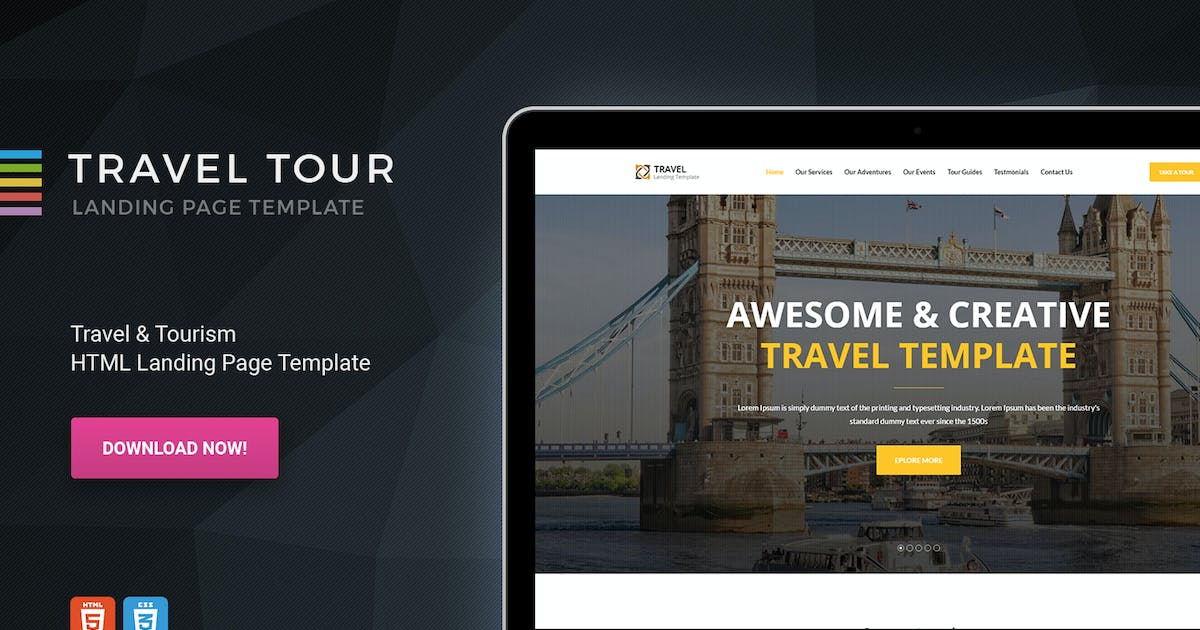 Download Travelly - HTML Travel & Tourism Landing page by Morad