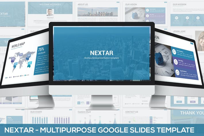 Thumbnail for Nextar - Multipurpose Google Slides Template
