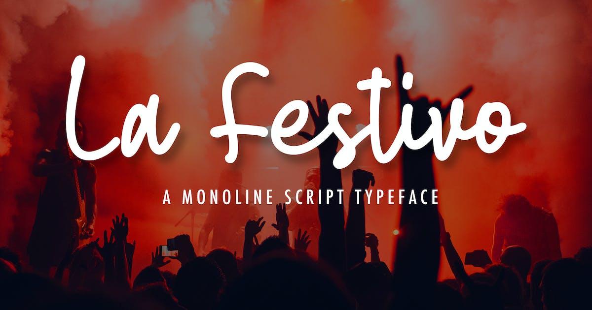Download La Festivo Monoline Script Font by naulicrea