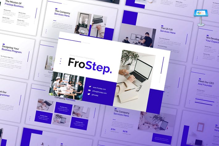 Thumbnail for FroStep - Startup Business Google Slides Template