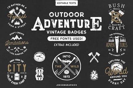 12 Vintage Outdoor Adventure Logos / Retro Badges