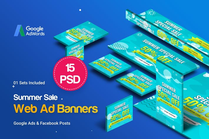 Thumbnail for Summer Sale Banners Ad