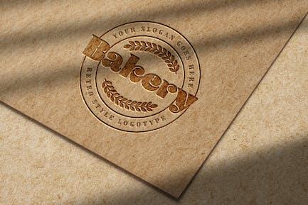 Debossed Logo Mockup on Kraft Paper