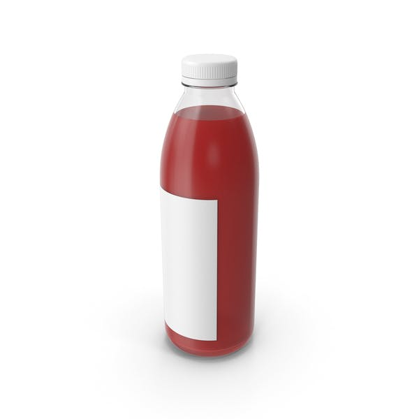 Red Juice Bottle