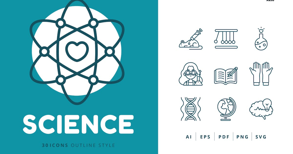 Download 30 Icons Science Outline Style by Victoruler