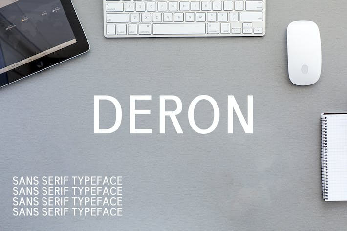 Thumbnail for Deron Sans Con serifa Font Family Pack