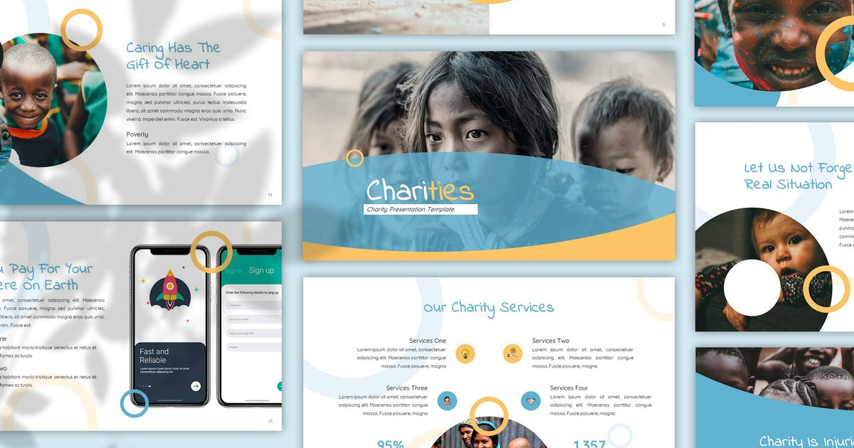 Download Charities - Fundraising Powerpoint Template by SlideFactory