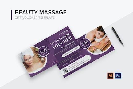 Beauty Massage Gift Voucher