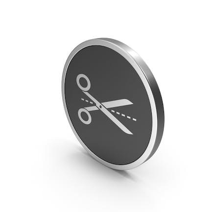 Silver Icon Line Cut Scissors