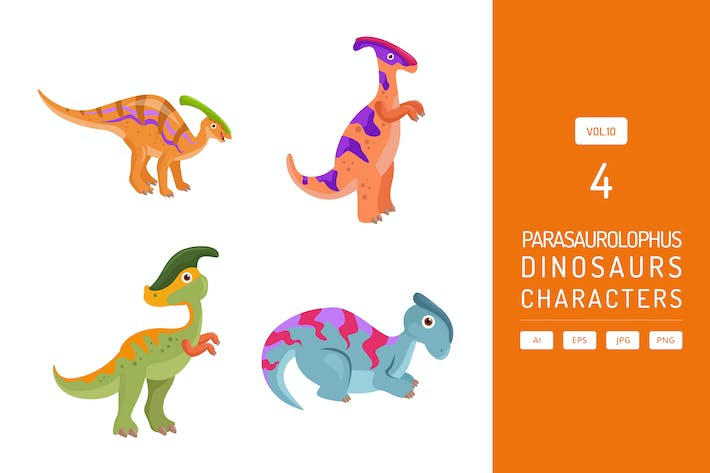 Thumbnail for Cute Parasaurolophus - Dinosaurs Character Vol.10