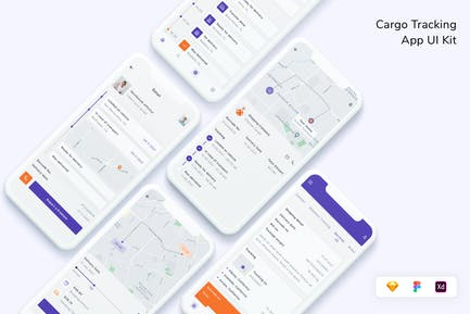 Cargo Tracking App UI Kit