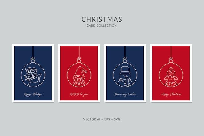 Thumbnail for Set de cartes de Vecteur Noël