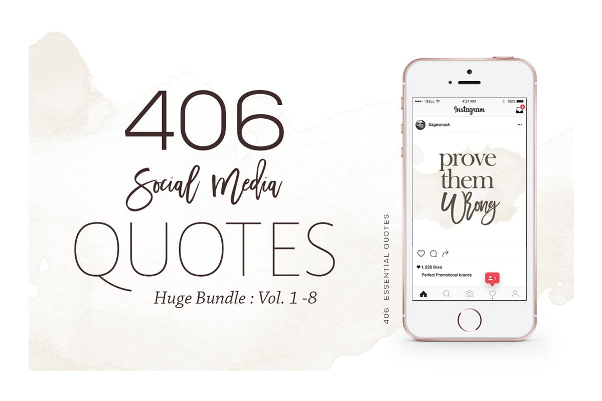 Download 406 Instagram Essential Quotes Bundle by sagesmask by Unknow