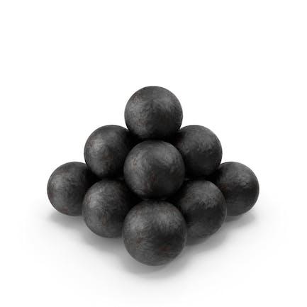 Bolas de cañón antiguas