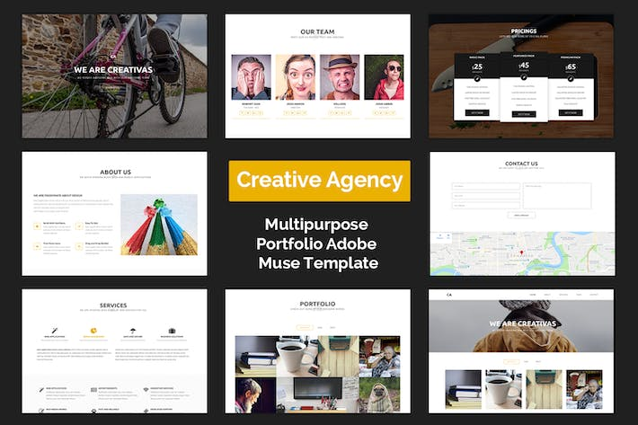 Thumbnail for Creative Agency - Muse Template