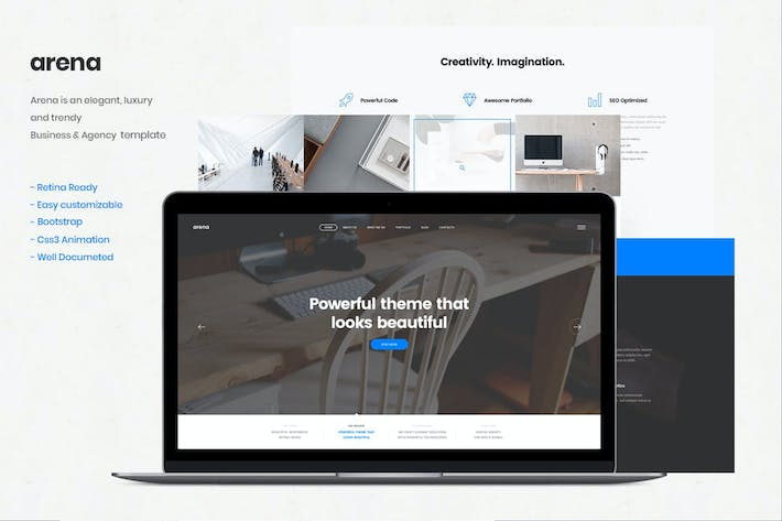 Thumbnail for Arena - Business & Agency HTML5 Template