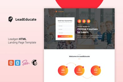 LeadEduco - Education HTML Landing Page Template