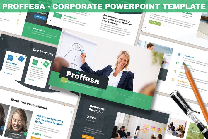 Cover Image For Proffesa - Corporate Powerpoint Template