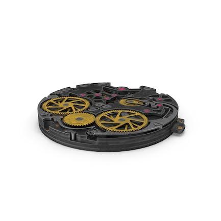 Mecanismo de reloj de hierro estilizado