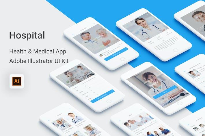 Thumbnail for Hospital - Health & Medical App (Illustrator)