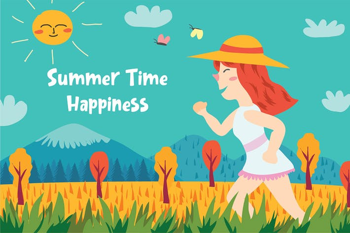 Thumbnail for Summer time - Vector Illustration
