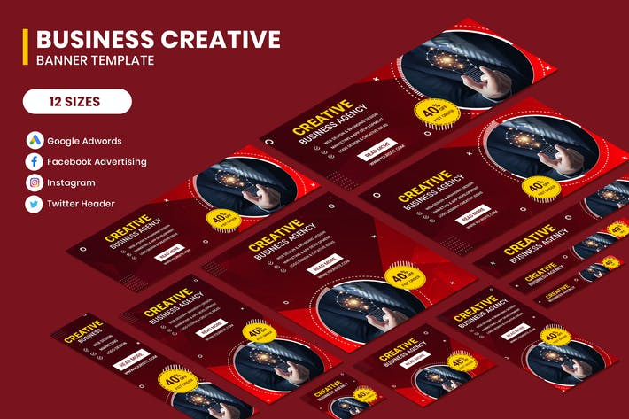 Thumbnail for Business Creative Adwords Banner Template