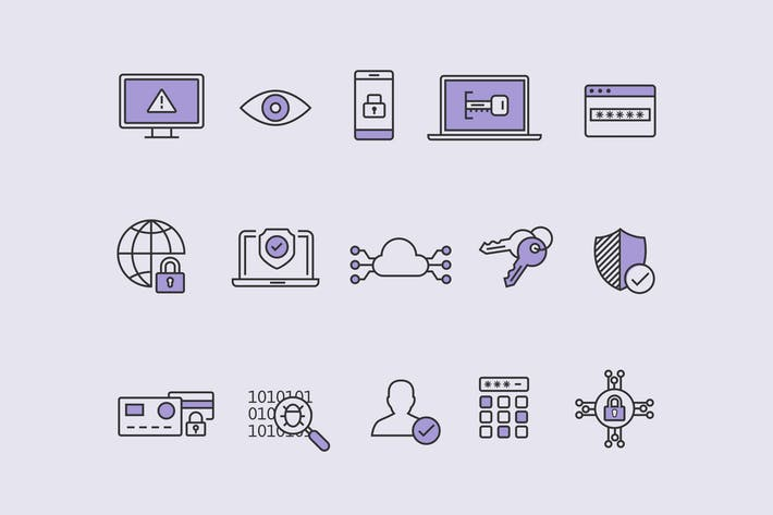 Thumbnail for 15 Cyber Security Icons