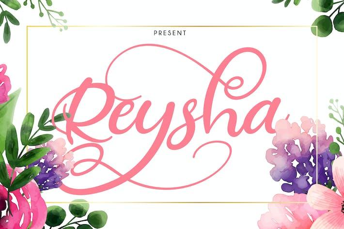 Thumbnail for Reysha | Flower Script Font
