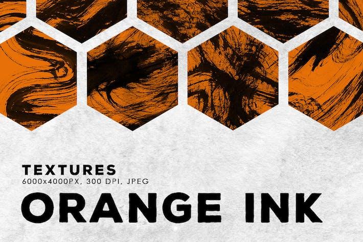 Thumbnail for Оранжевые абстрактные текстуры чернил