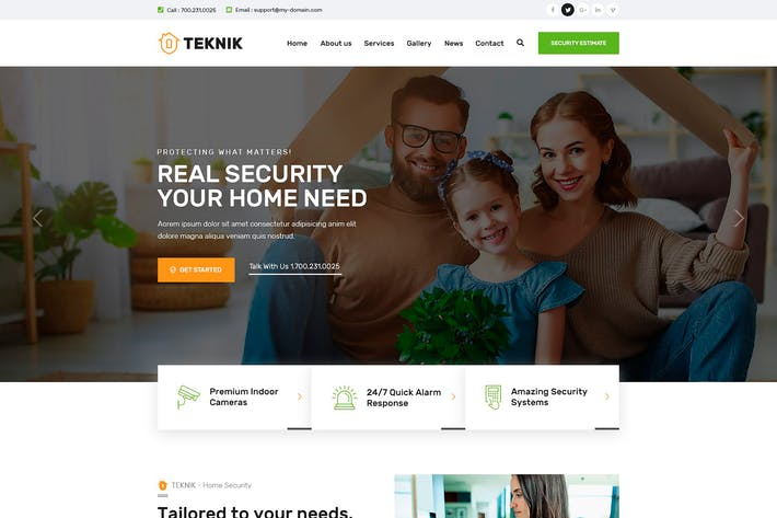 Thumbnail for Teknik - Security Services PSD Template