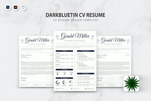 Darkbluetin CV Resume