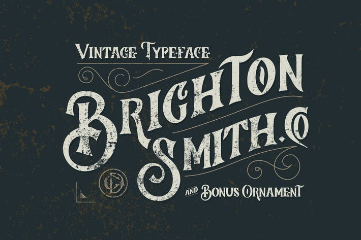 Thumbnail for Brighton Smith Typeface