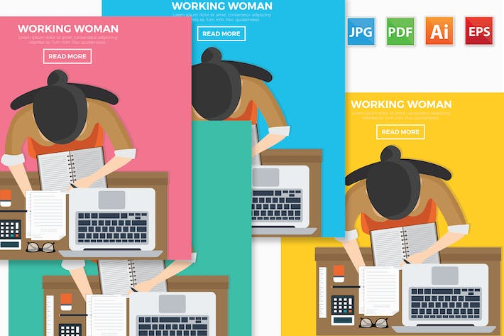 Cover Image For Working woman design